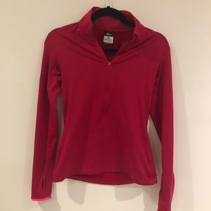 Pink Nike Pro Dri-Fit Pullover